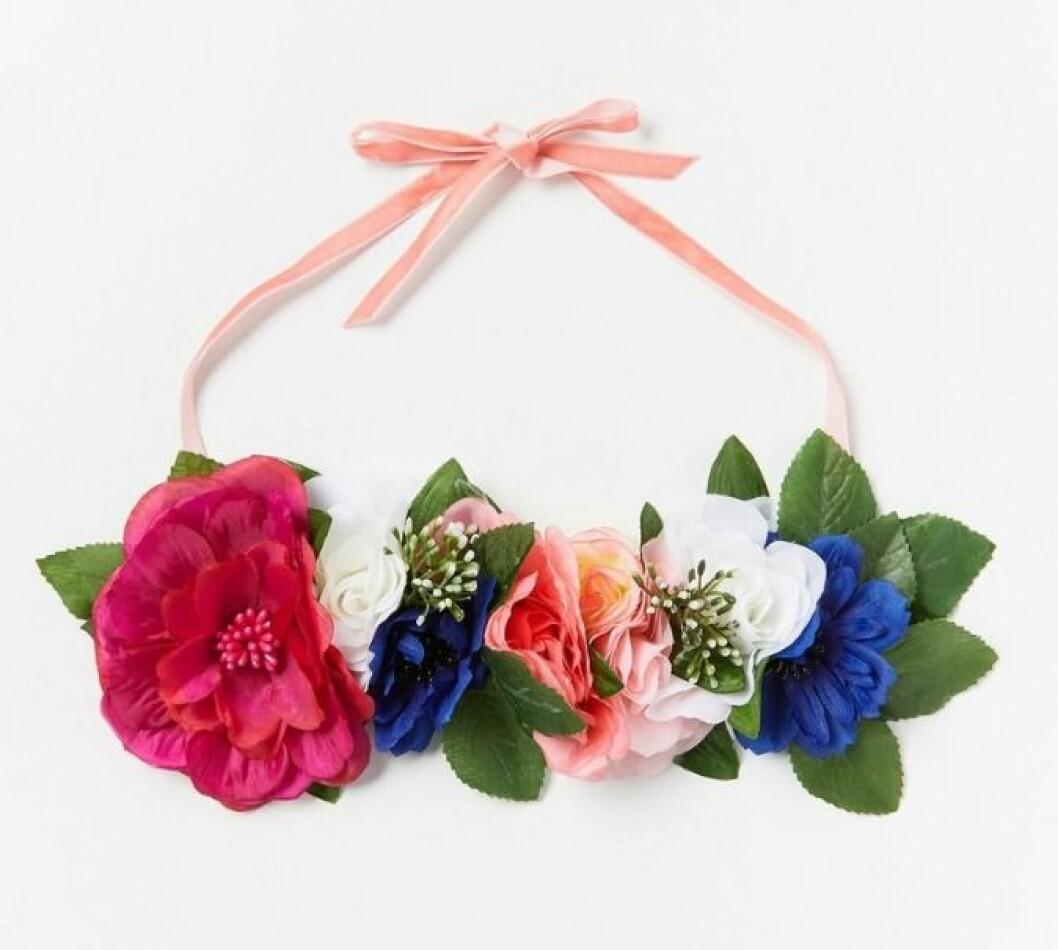 Hårband med blomkrans som du kan köpa