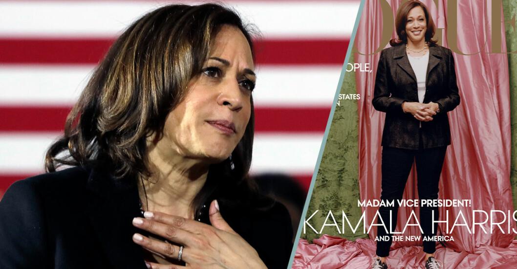 Kamala Harris Vogue-omslag kritiseras hårt.