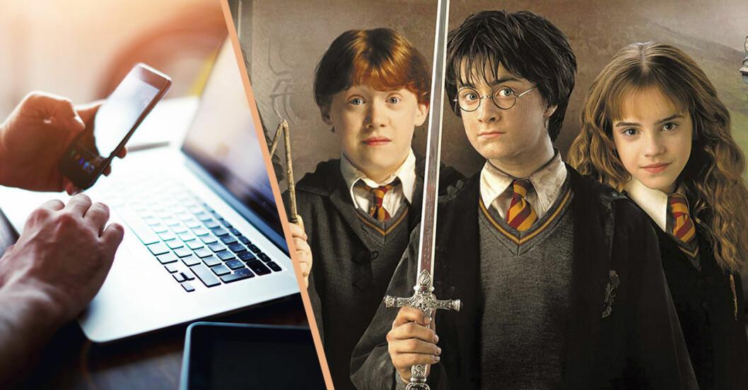 Hermione, Harry Potter och Ron Weasley