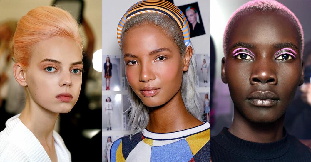 Hårtrender 2019: pastellfärgat och grått hår