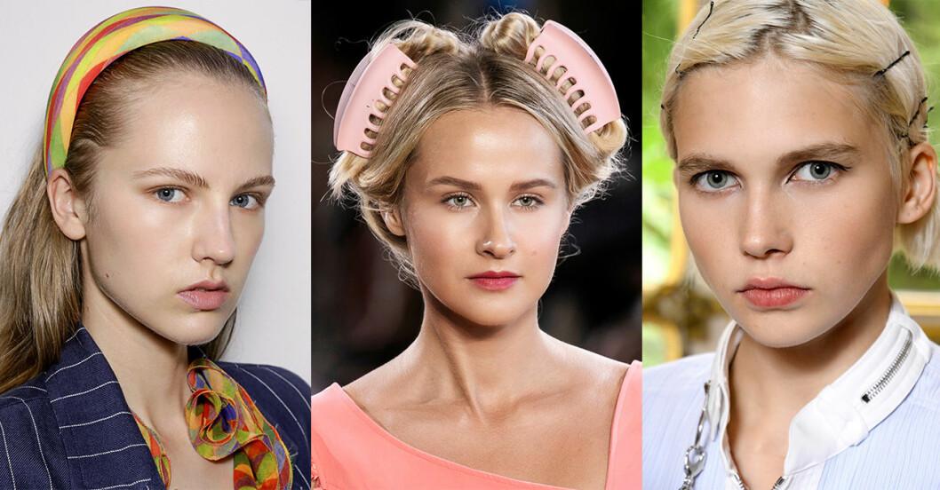 Hårtrender 2019: hårspännen och diadem