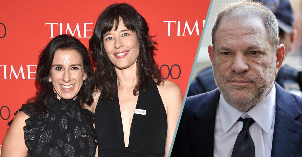journalisterna Megan Twohey och Jodi Kantor - och Harvey Weinstein