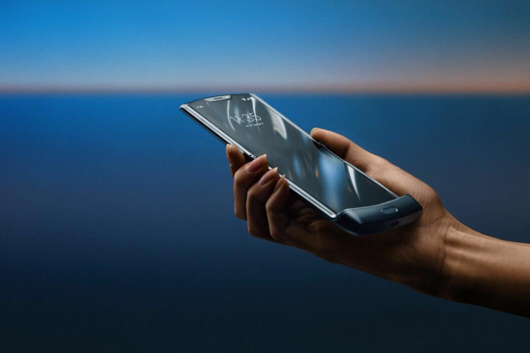 Motorola Razr vikbar skärm