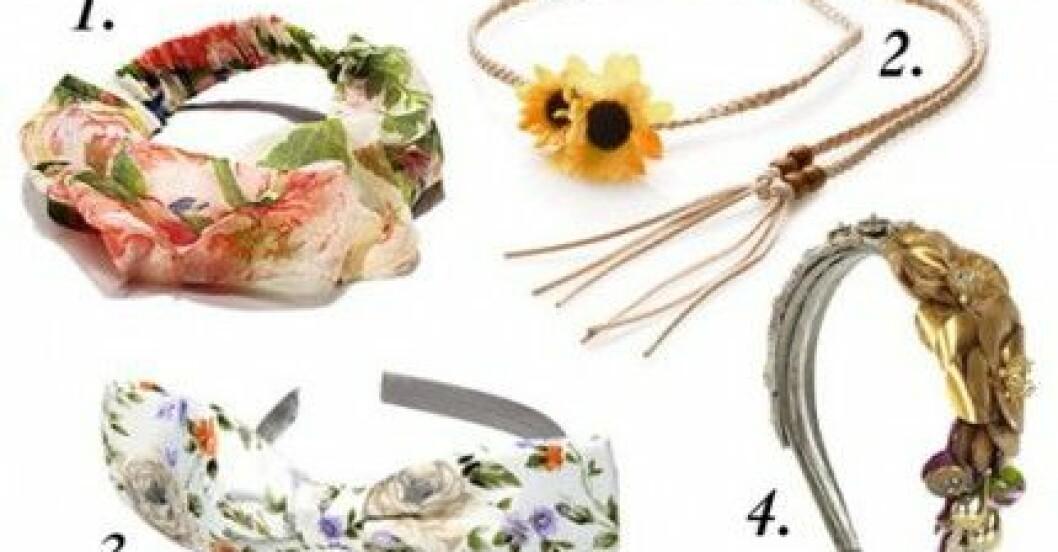 Smycka ditt hår med blommor av tygblommor,
