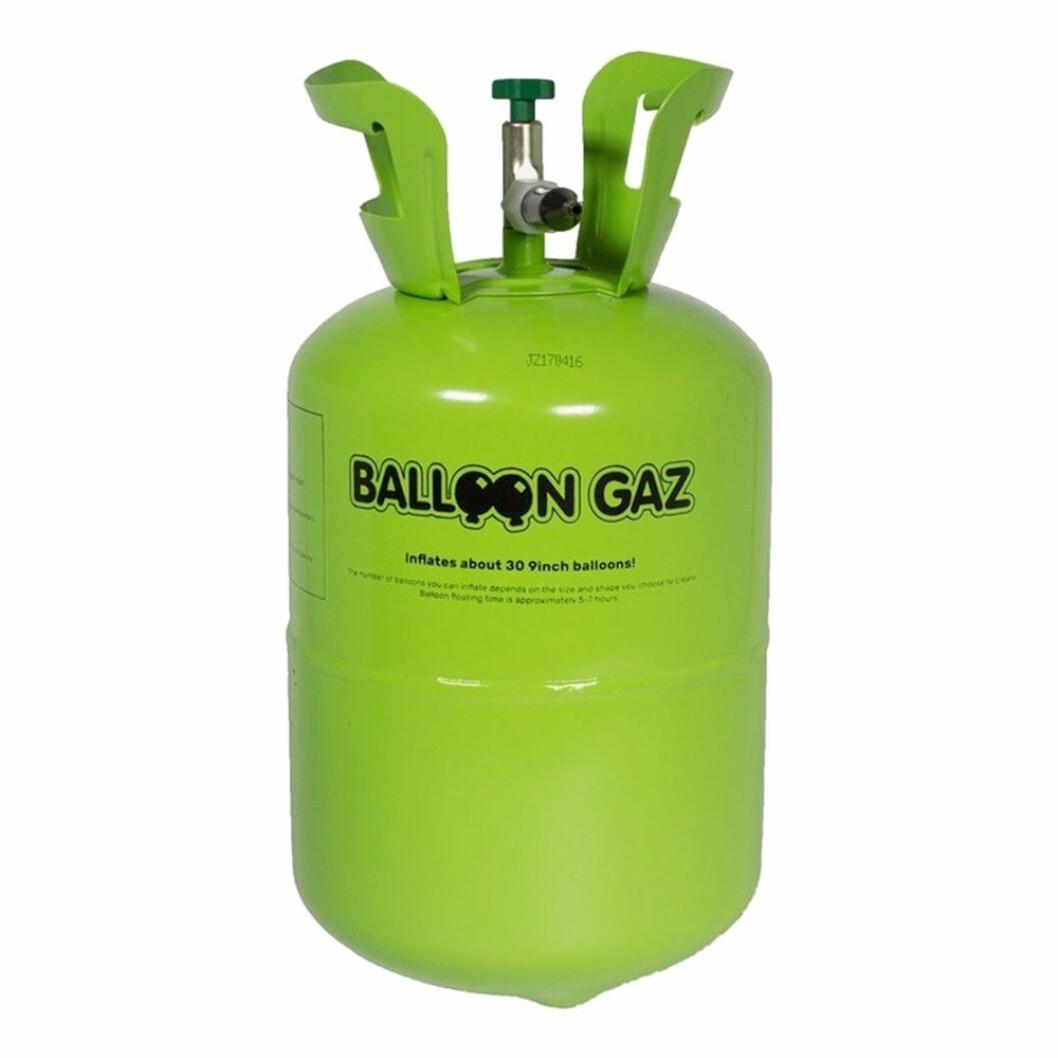 Helium på tub för att blåsa upp ballonger