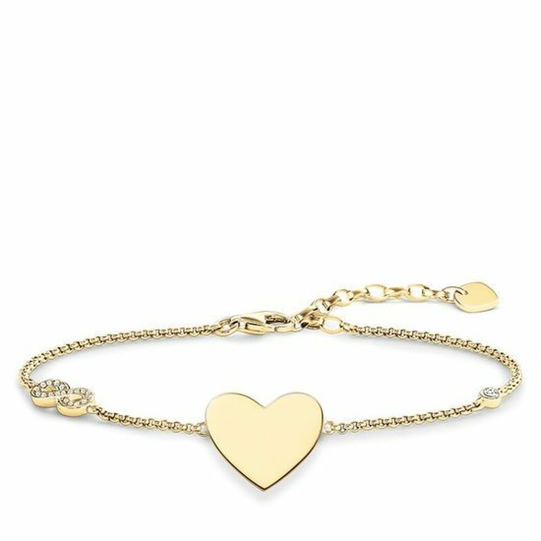 Armband med infinity-hjärta