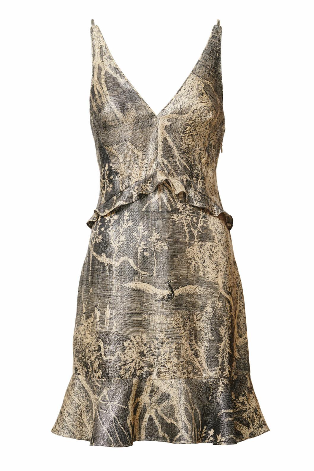 H&M Conscious Exclusive 2019 guldig klänning