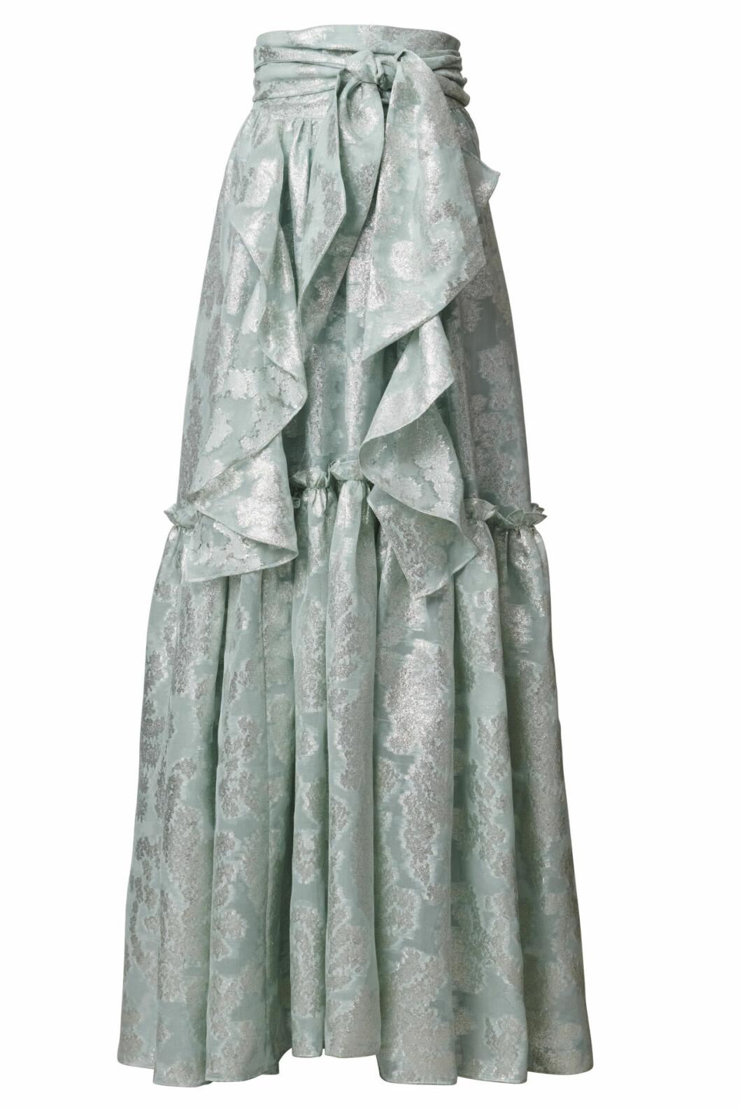 H&M Conscious Exclusive 2019 lång ljusgrön kjol