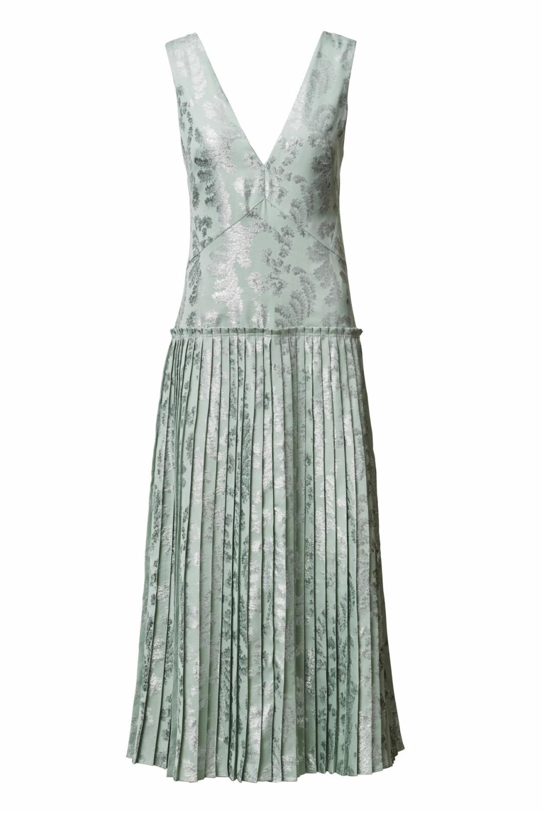 H&M Conscious Exclusive 2019 plisserad klänning