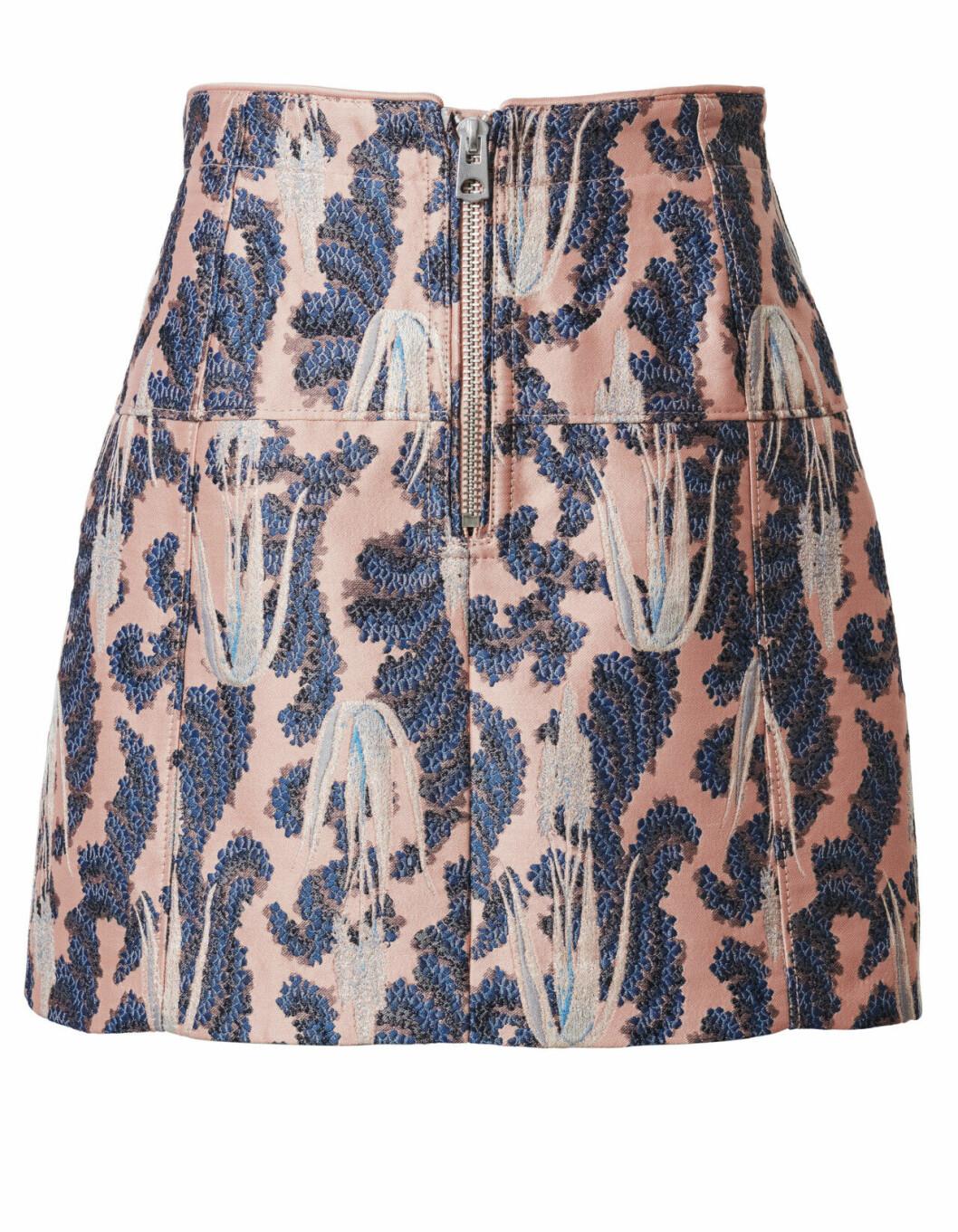 H&M Conscious Exclusive 2019 mönstrad kjol med dragkedja