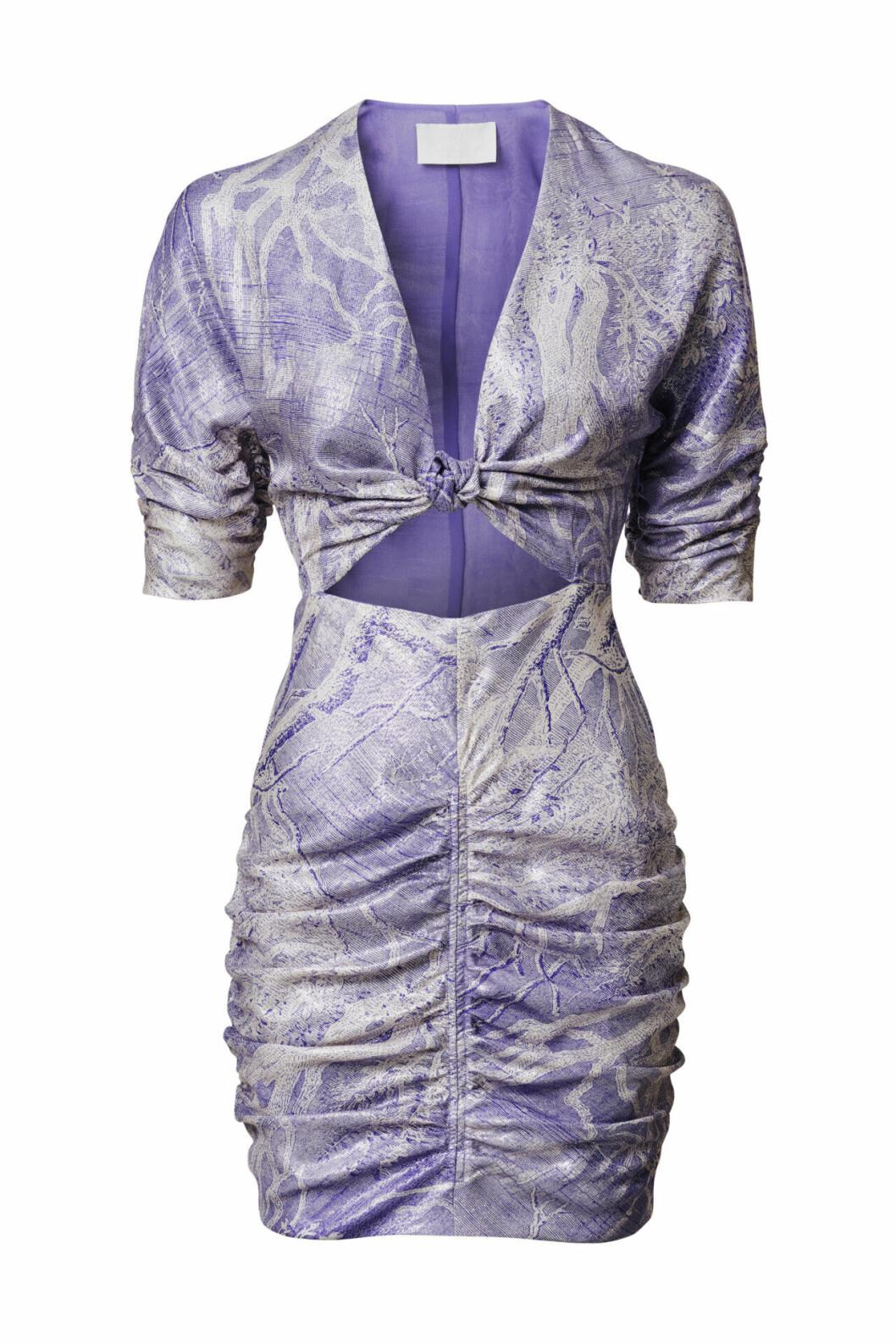 H&M Conscious Exclusive 2019 lila klänning i kort modell