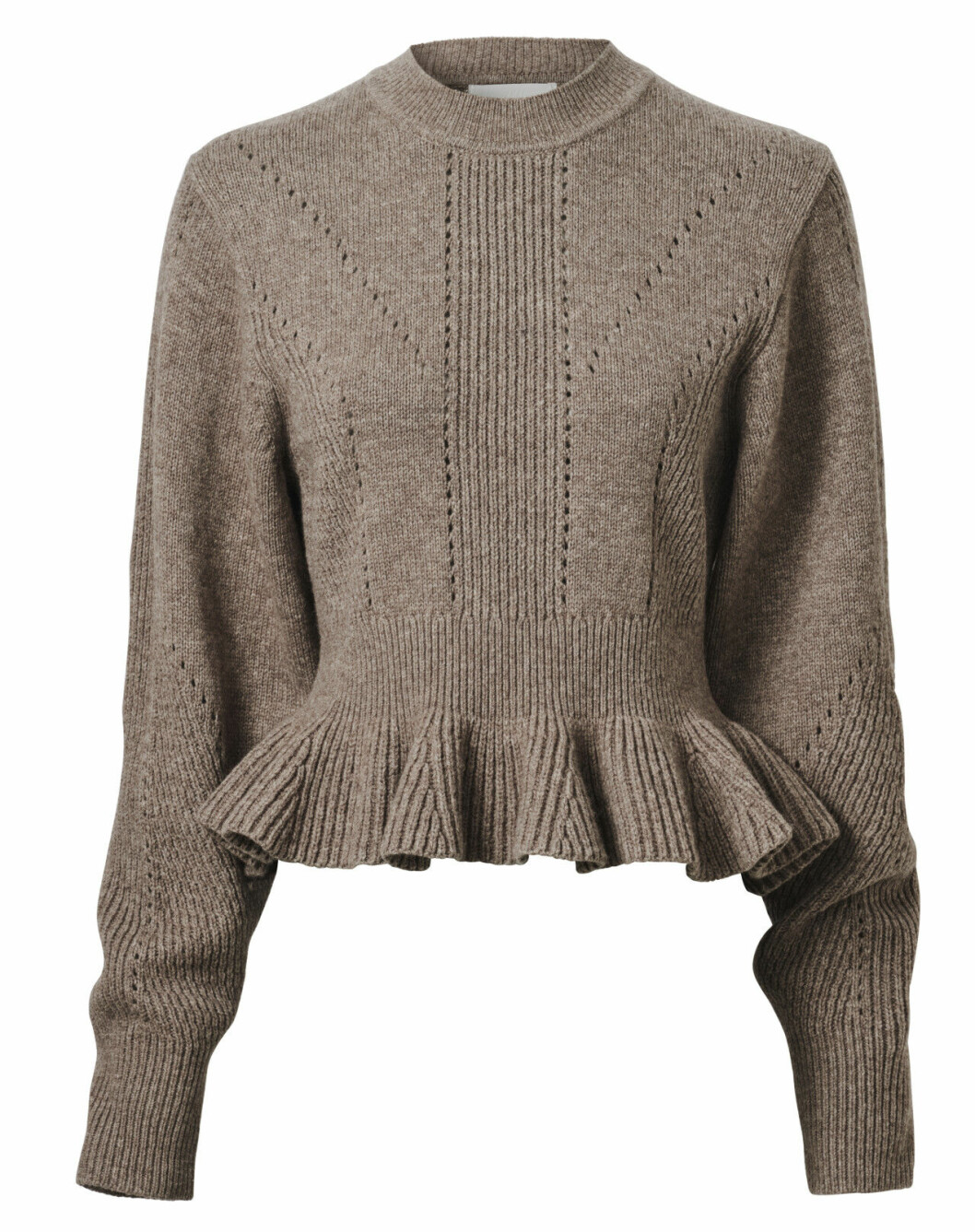 H&M Conscious Exclusive AW19 –stickad tröja med volanger