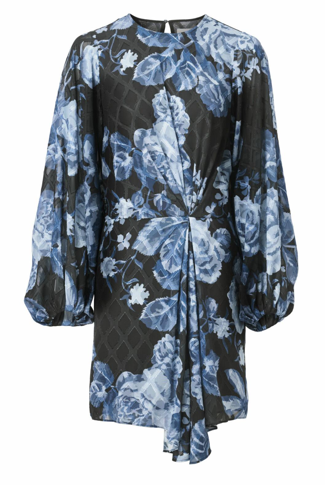 H&M Conscious Exclusive AW19 –blommig blå klänning