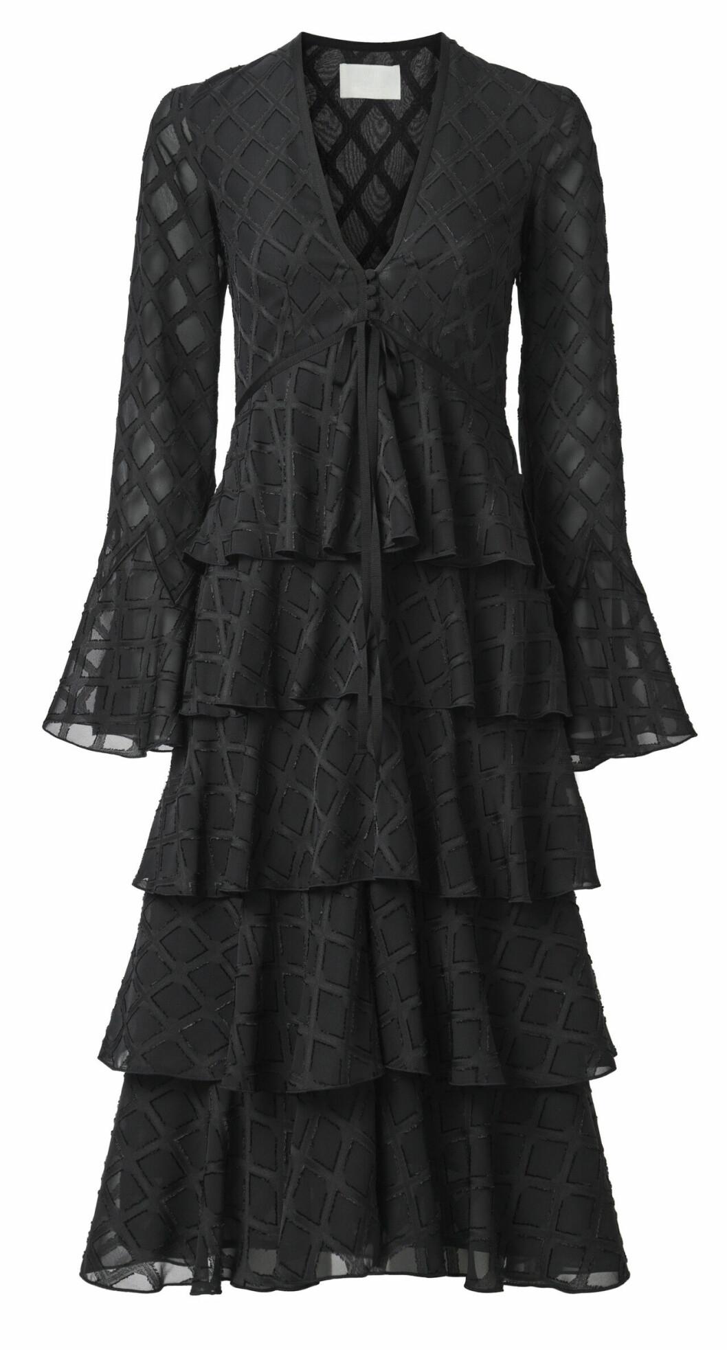 H&M Conscious Exclusive AW19 –svart klänning med volanger