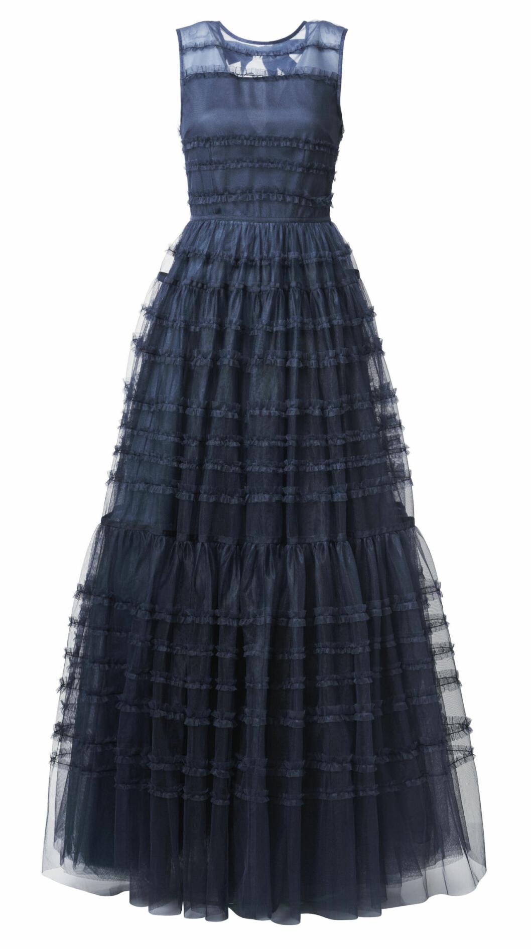 H&M conscious exclusive SS20 – blå maxiklänning