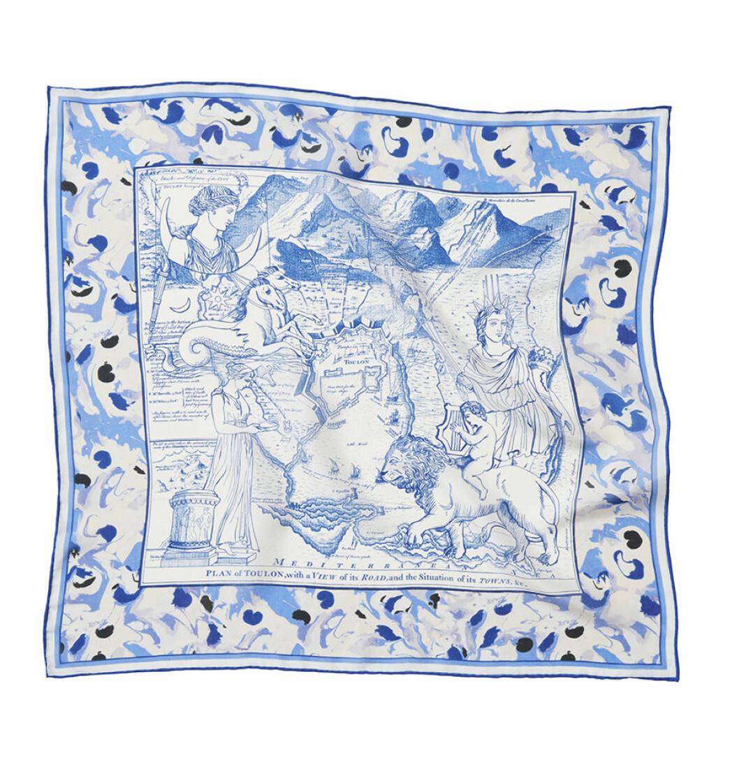 H&M conscious exclusive SS20 – blåvit scarf