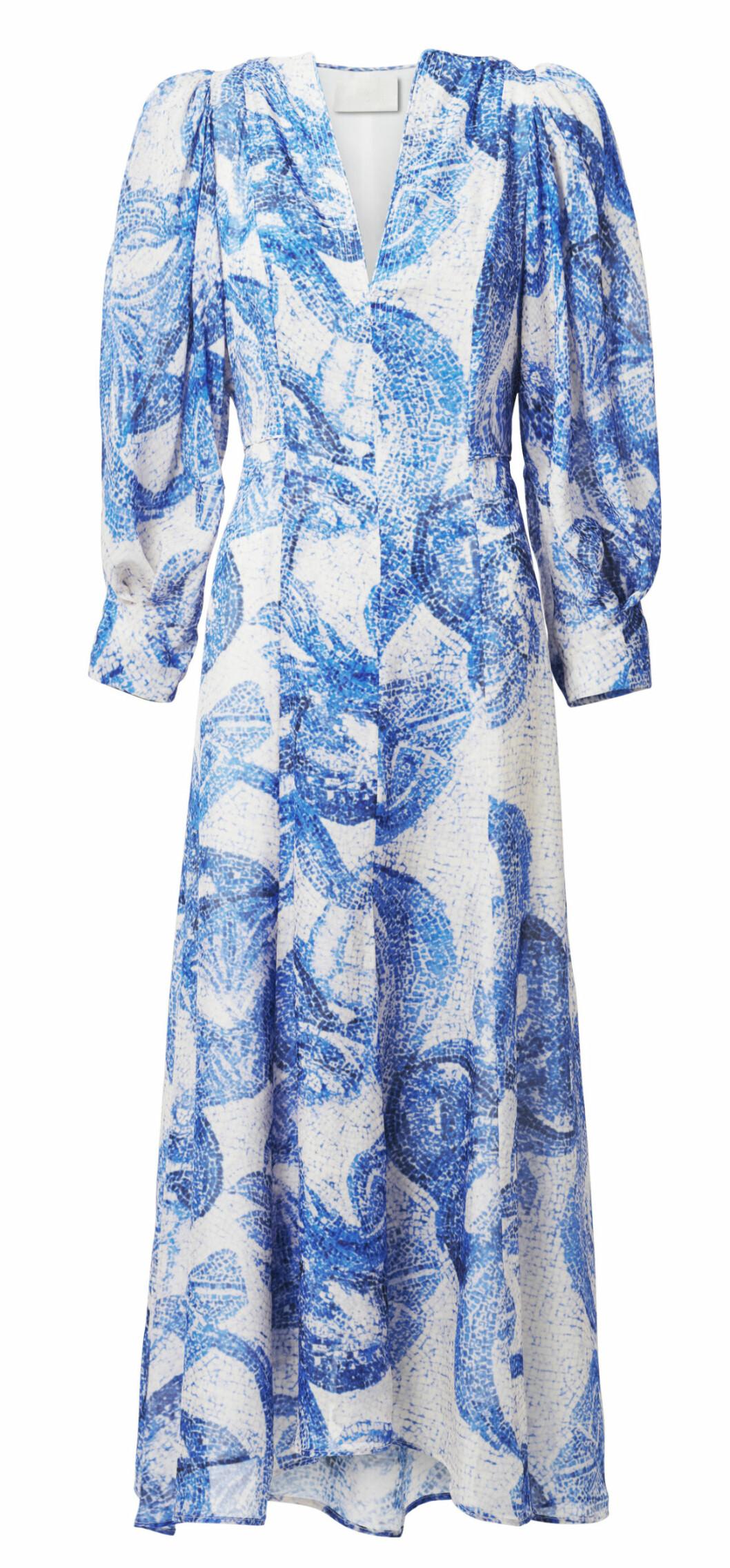 H&M conscious exclusive SS20 – blåvit långklänning