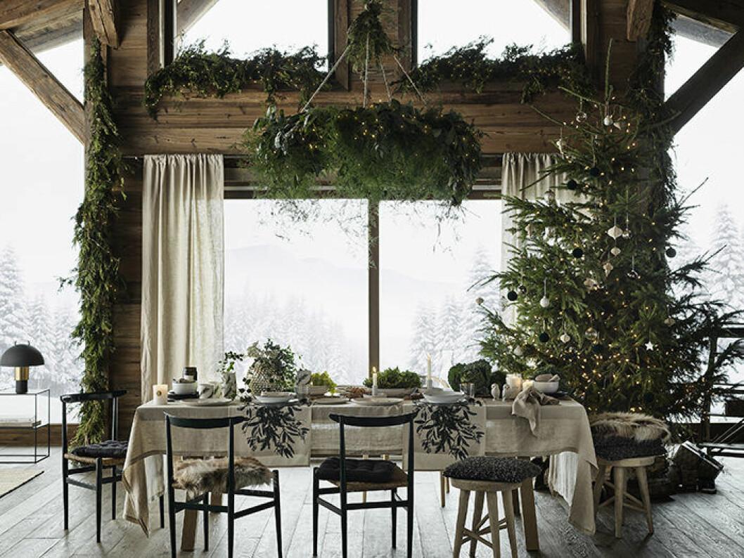 en grön jul hos H&M Home