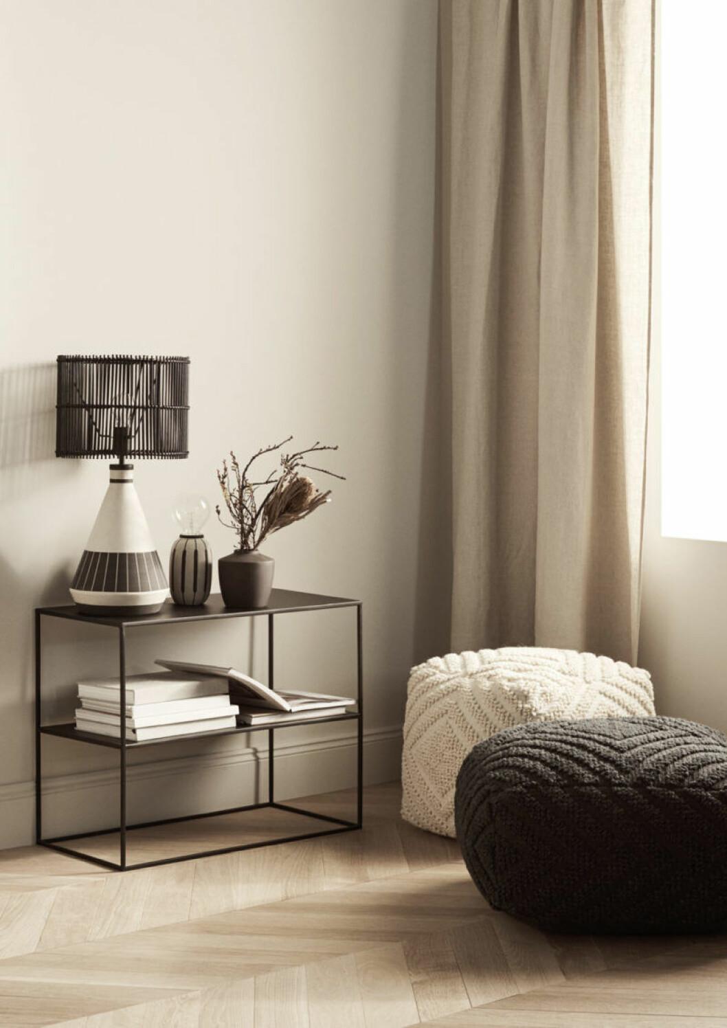 Nu släpper H&M Home en ny kollektion med lampor och möbler.