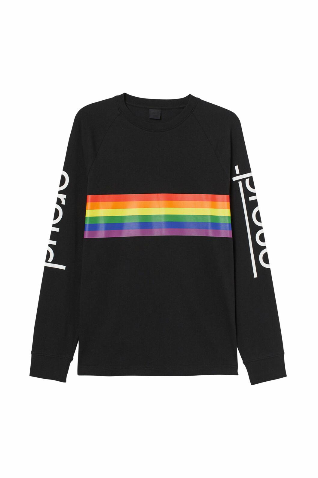 H&M släpper Pridekollektion för 2019 – svart sweatshirt