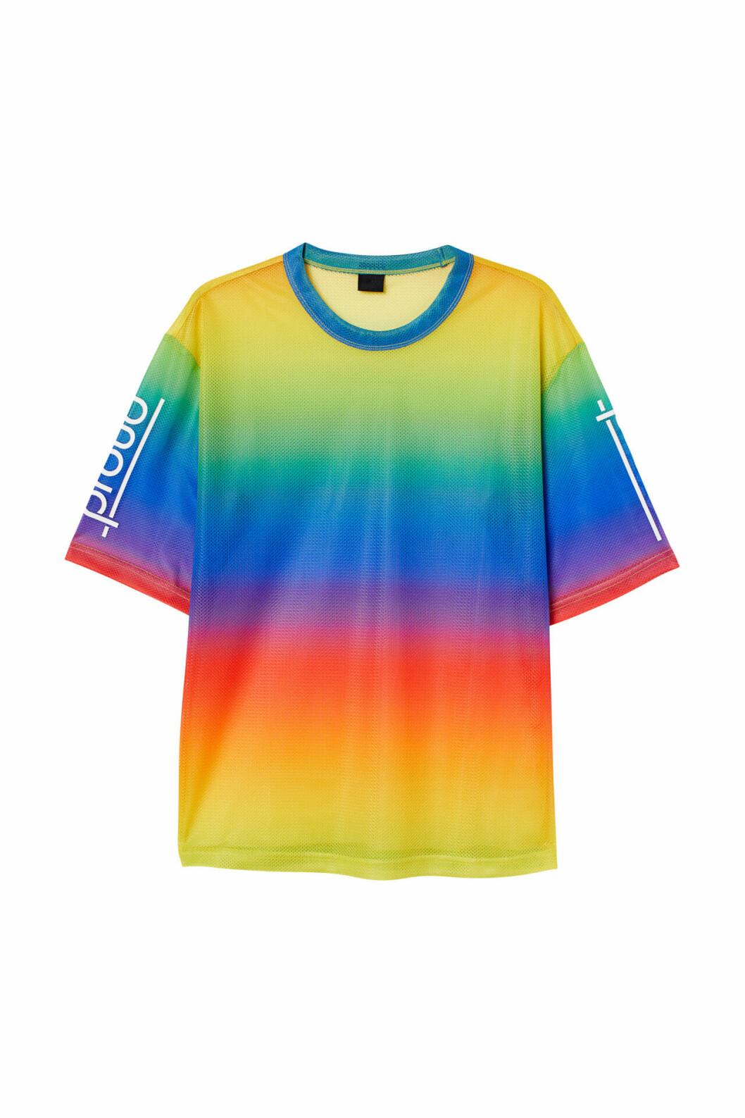 H&M släpper Pridekollektion för 2019 – regnbågsfärgad t-shirt