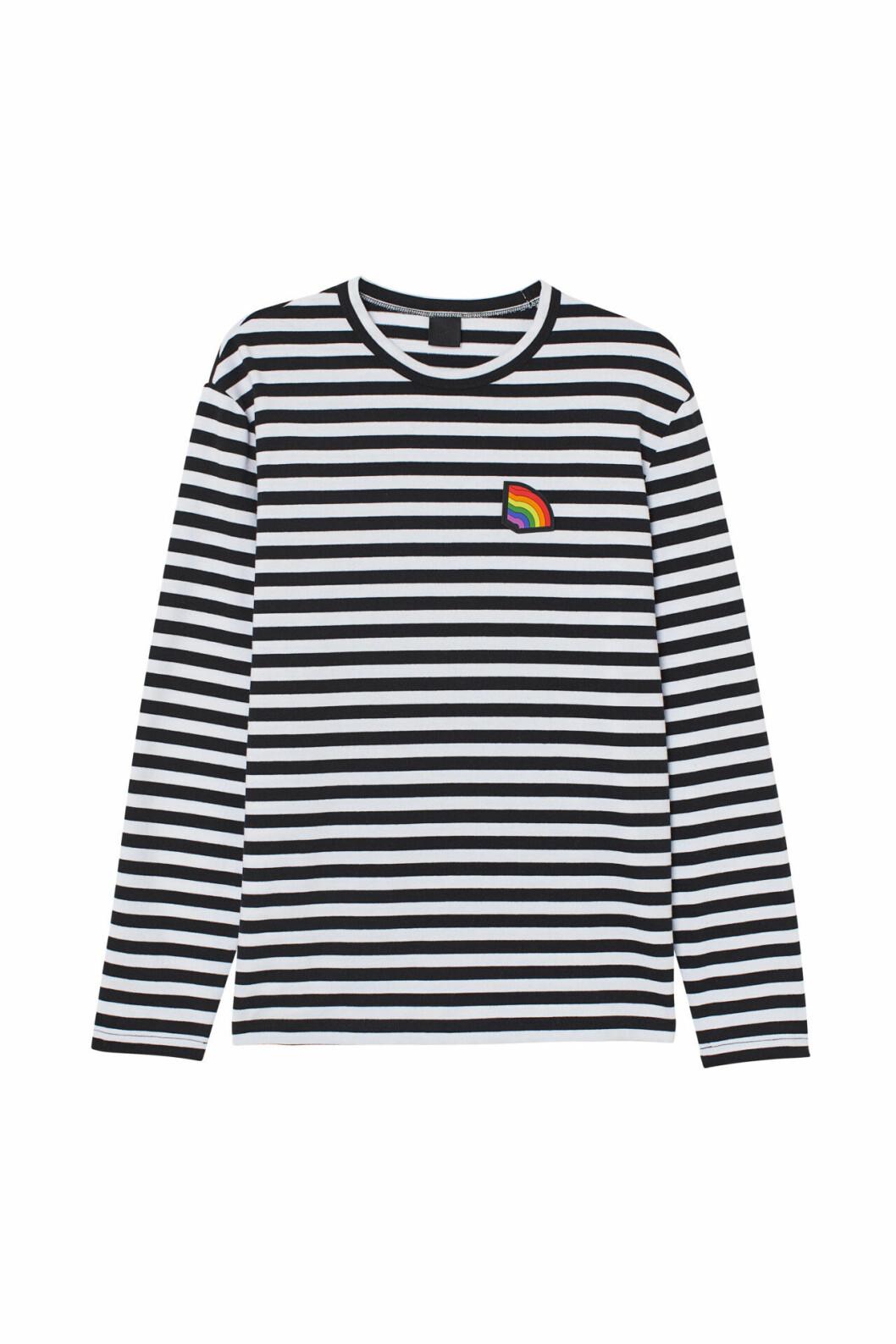H&M släpper Pridekollektion för 2019 – randig sweatshirt