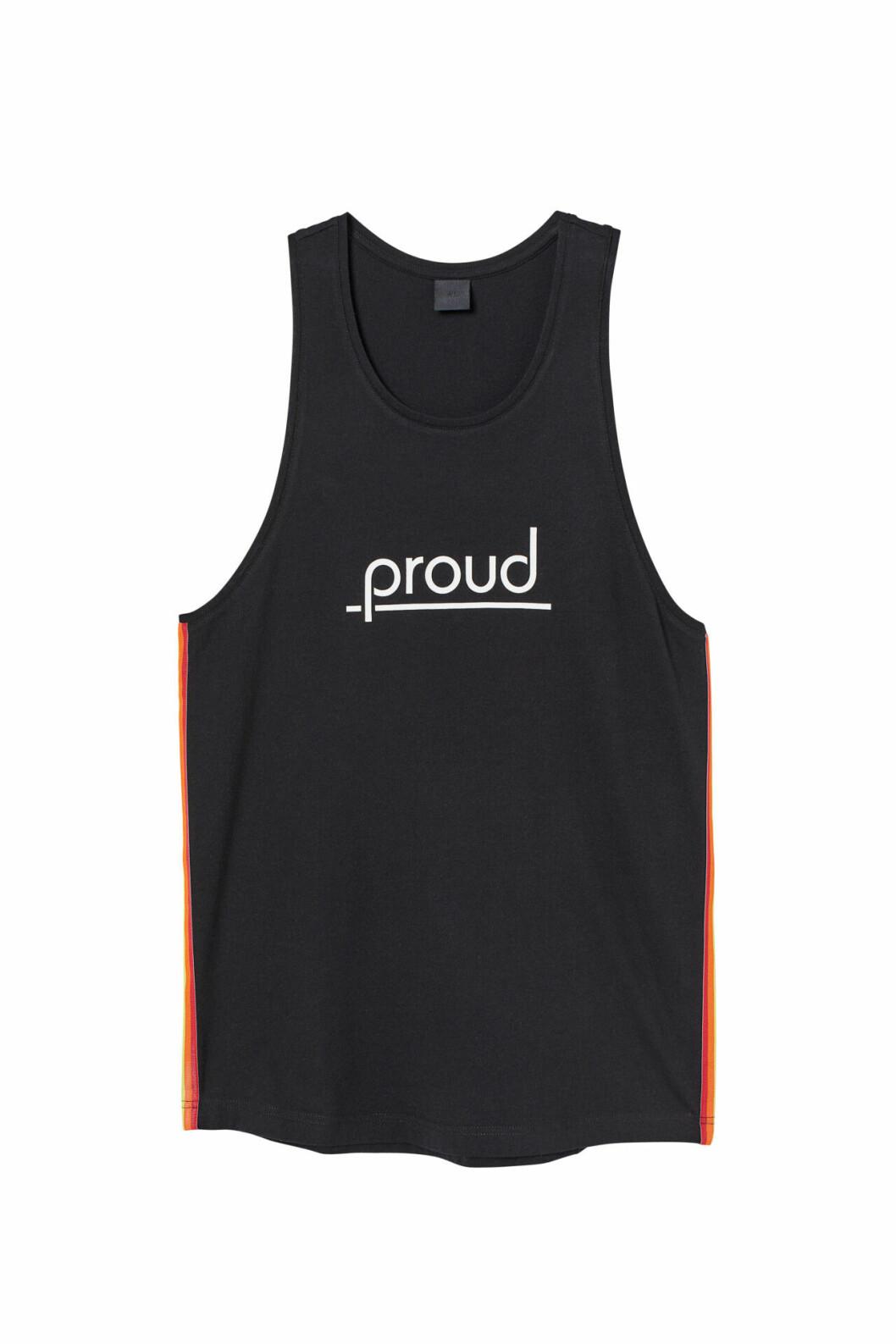 H&M släpper Pridekollektion för 2019 – svart linne med tryck