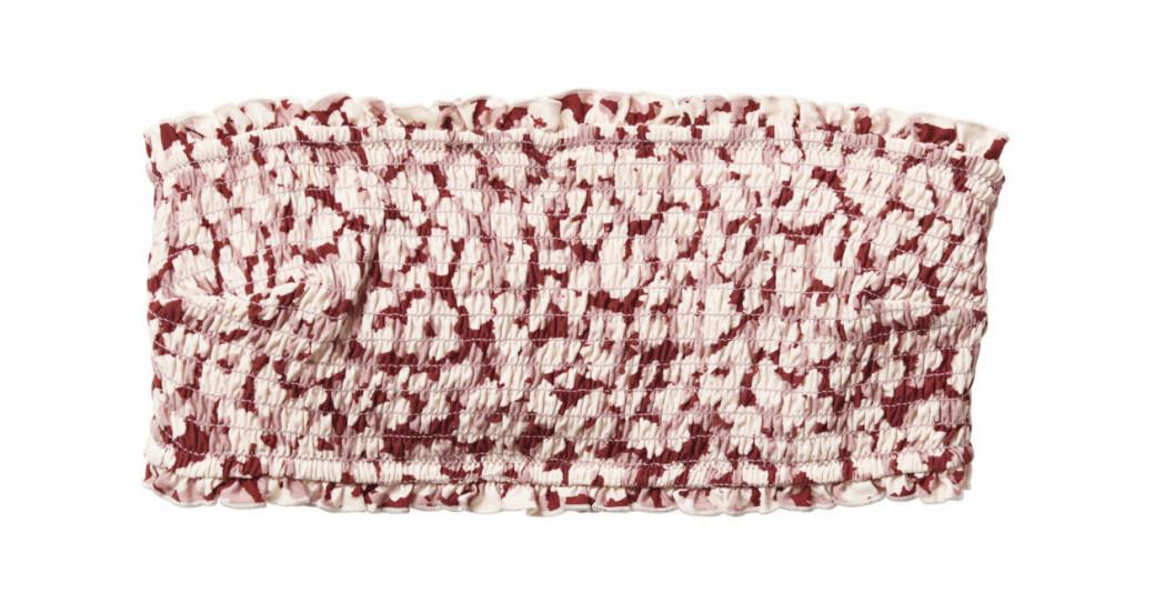 H&M släpper badkollektion med Love Stories – bandeaubikini med rosa mönster