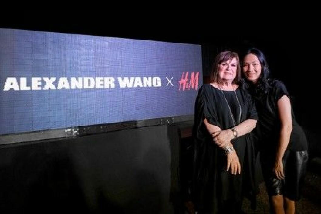 Margareta van den Bosch från H&M och Alexander Wang.
