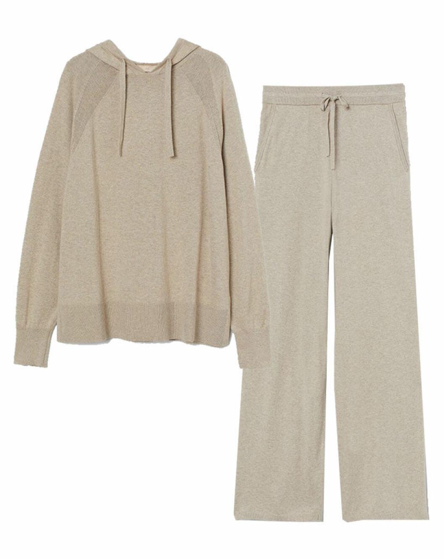 Stickat matchande mjukisset från H&M i beige