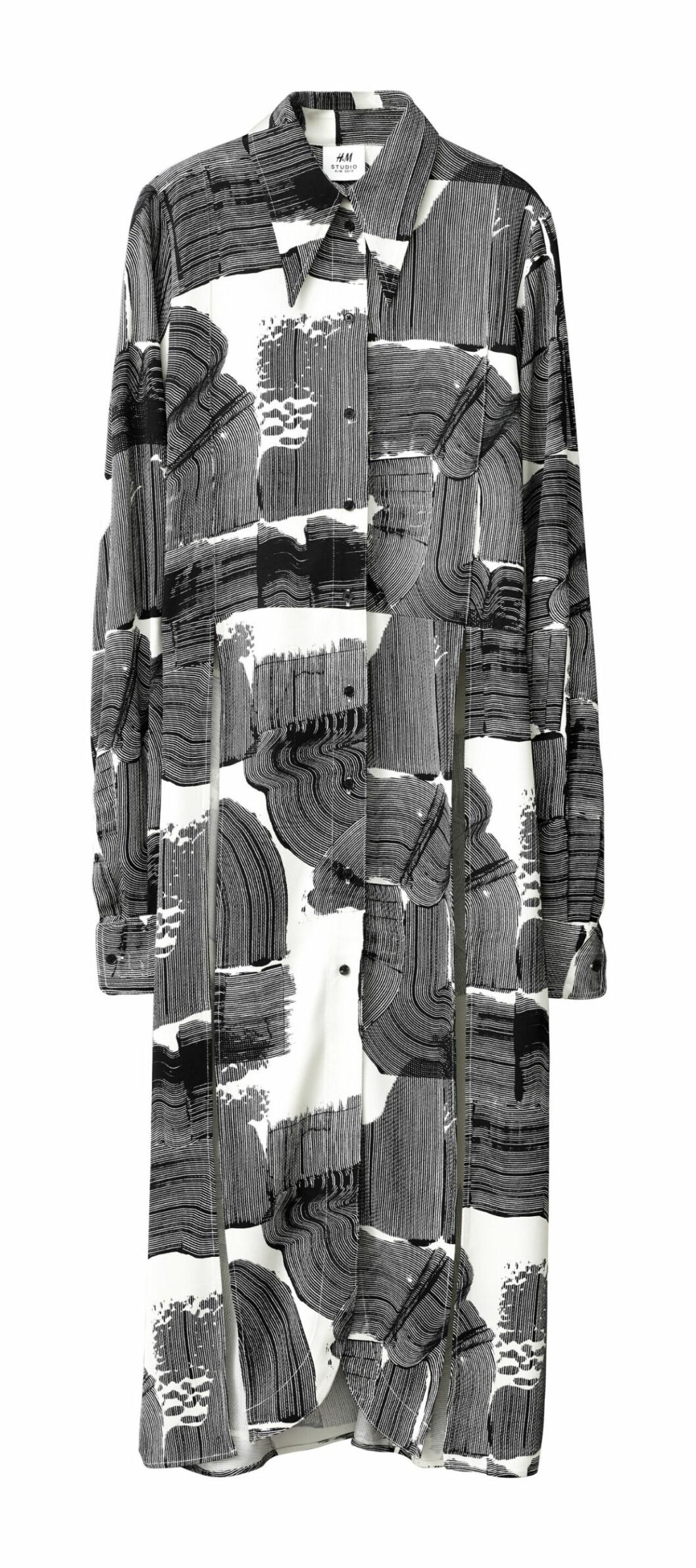 H&M Studio höstkollektion aw 2019 – mönstrad skjortklänning