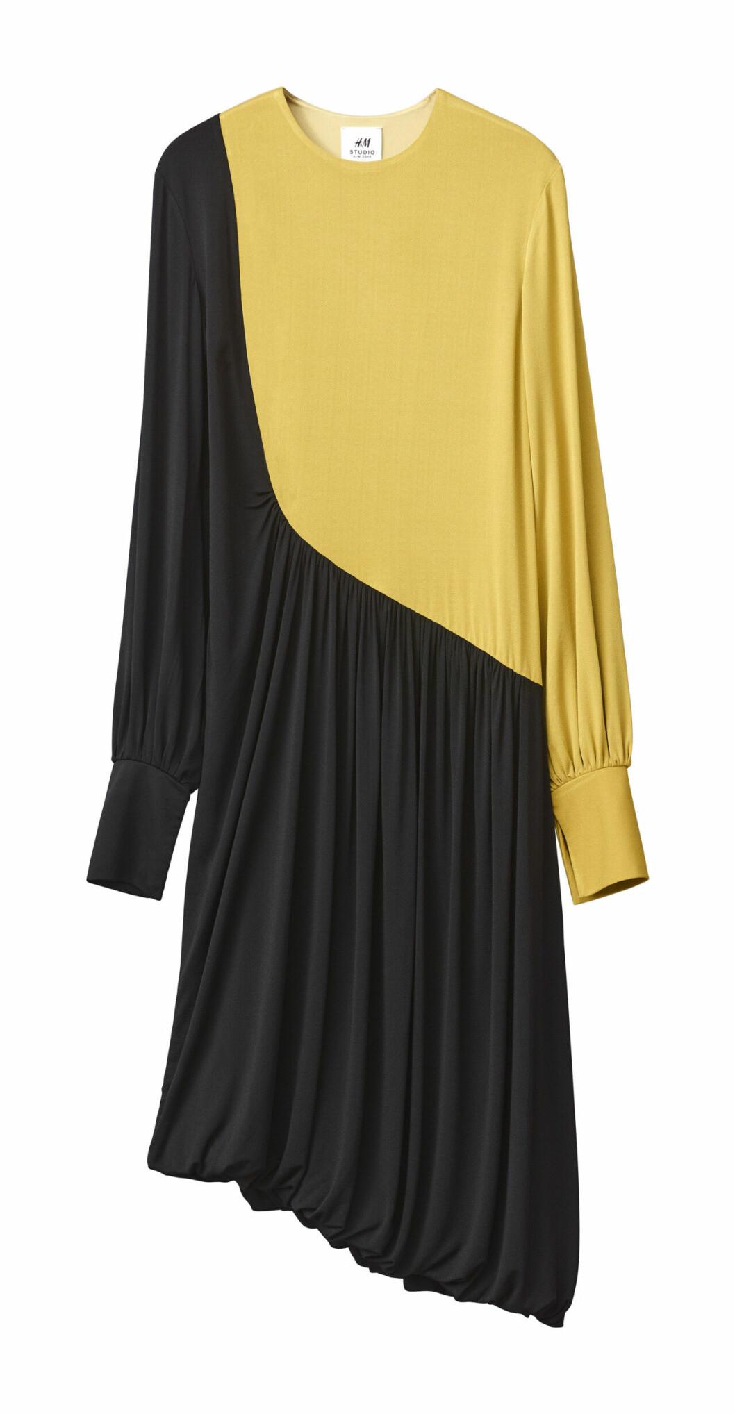 H&M Studio höstkollektion aw 2019 – gul och svart klänning