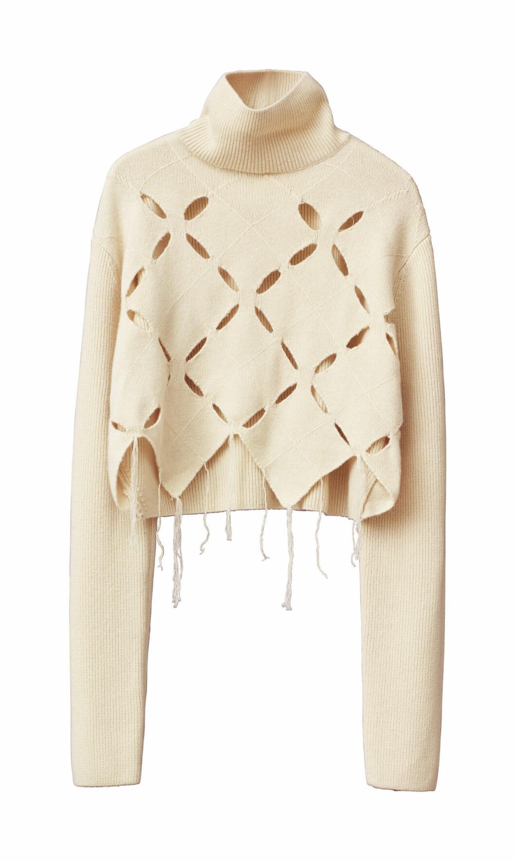 H&M Studio höstkollektion aw 2019 – stickad polo i vitt