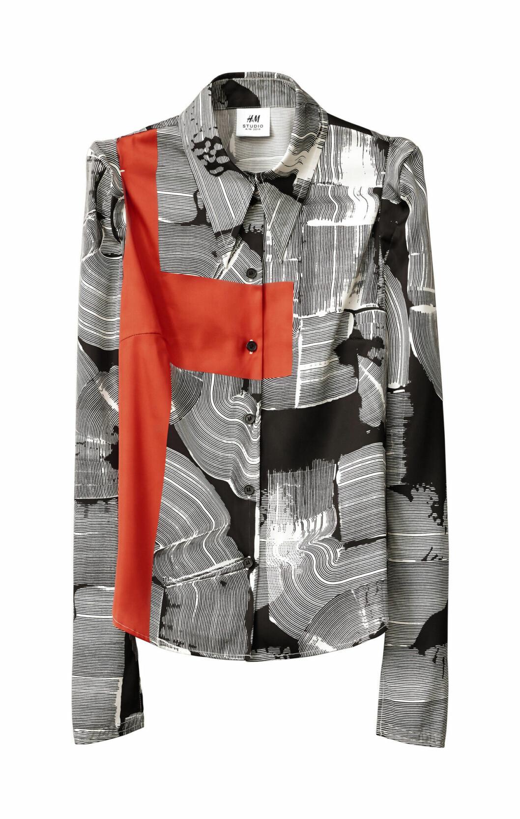 H&M Studio höstkollektion aw 2019 – skjorta i svart och vitt