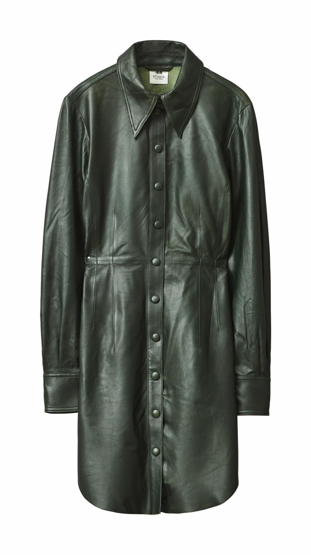 H&M Studio höstkollektion aw 2019 – grön skinnskjorta