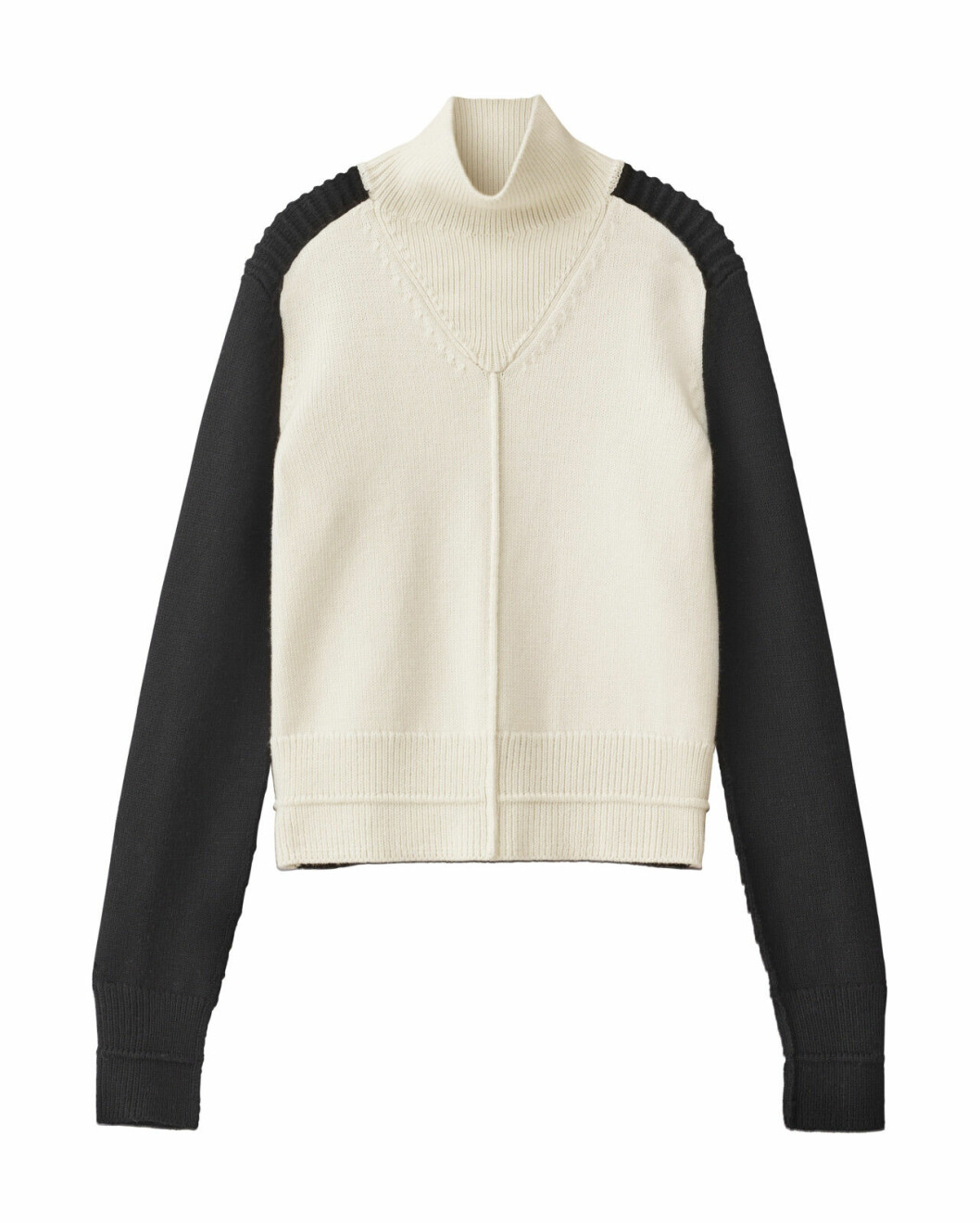 H&M Studio höstkollektion aw 2019 – svartvit polotröja