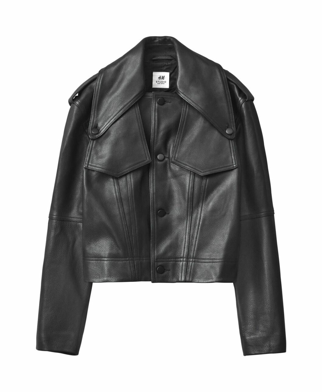 H&M Studio höstkollektion aw 2019 – svart skinnjacka