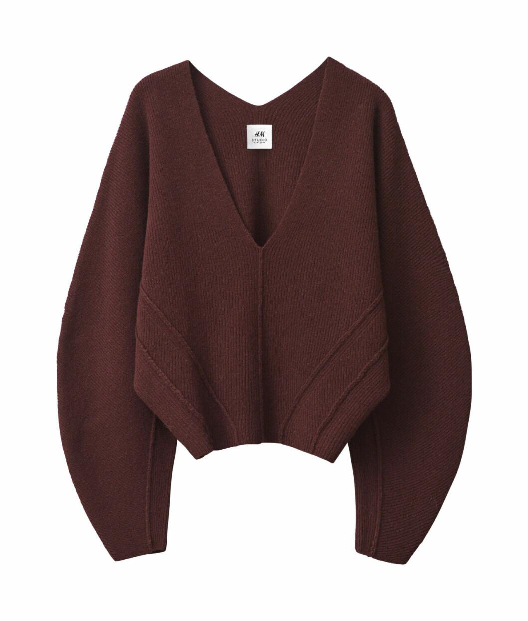 H&M Studio höstkollektion aw 2019 – vinröd tröja