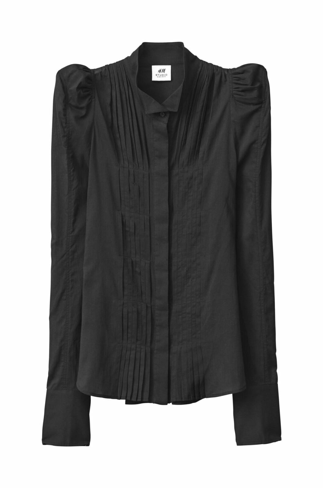 H&M Studio höstkollektion aw 2019 – svart blus