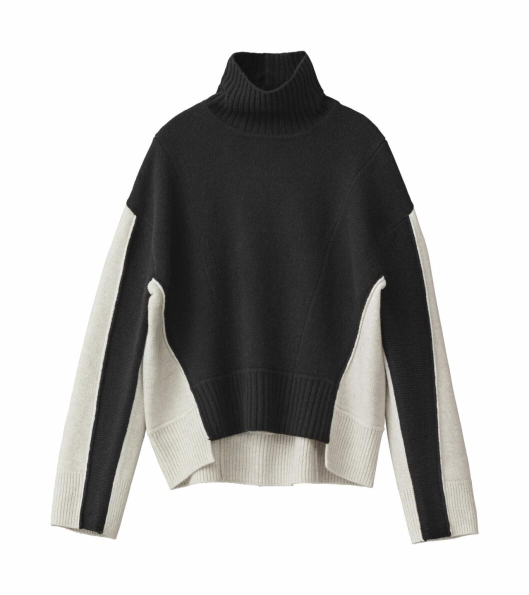 H&M Studio höstkollektion aw 2019 – svartvit stickad tröja