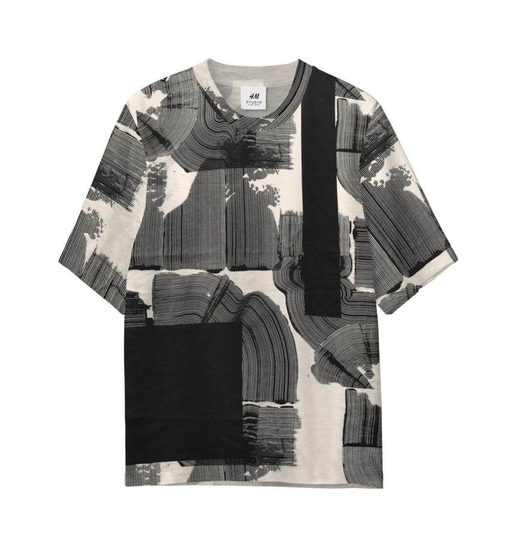 H&M Studio höstkollektion aw 2019 – svartvit t-shirt