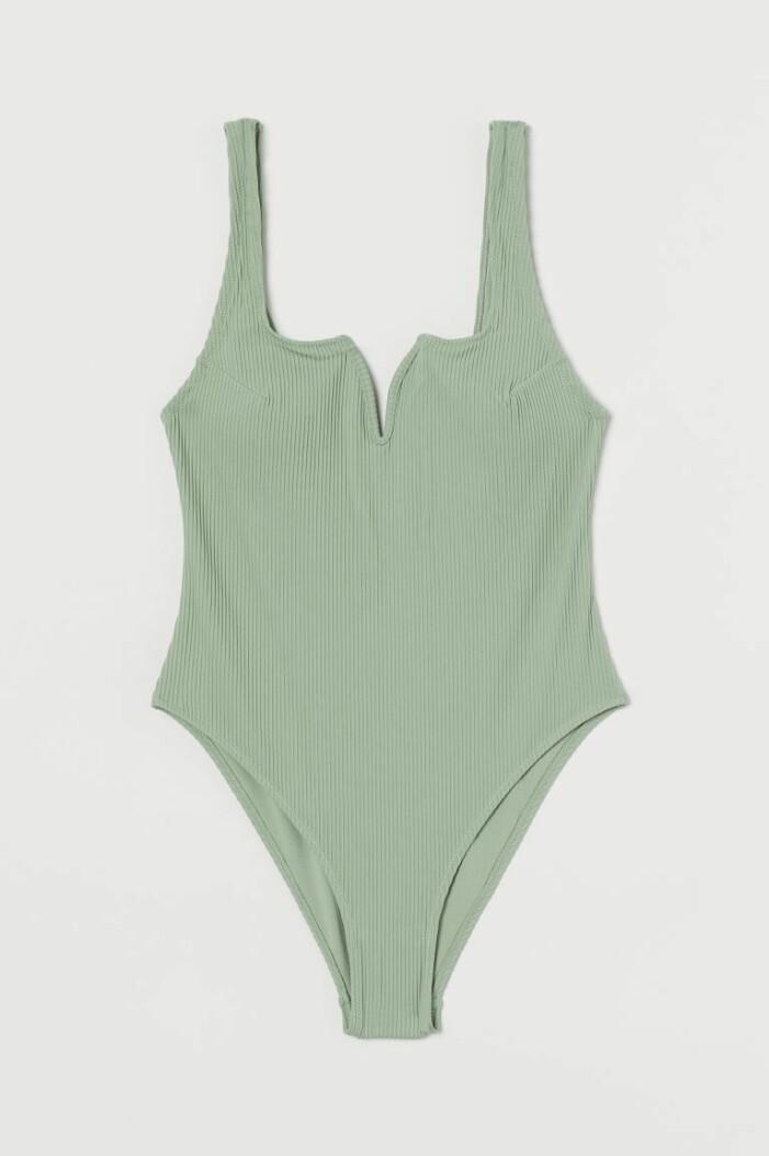 grön baddräkt från H&M