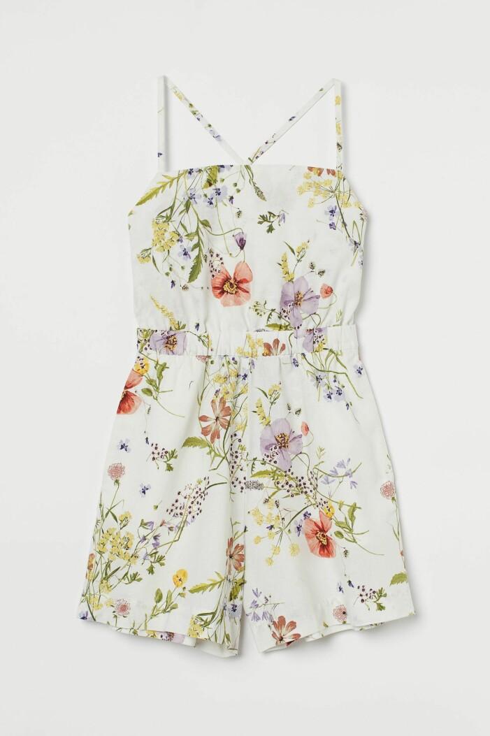 blommig playsuit, jumpsuit med korta ben, från H&M
