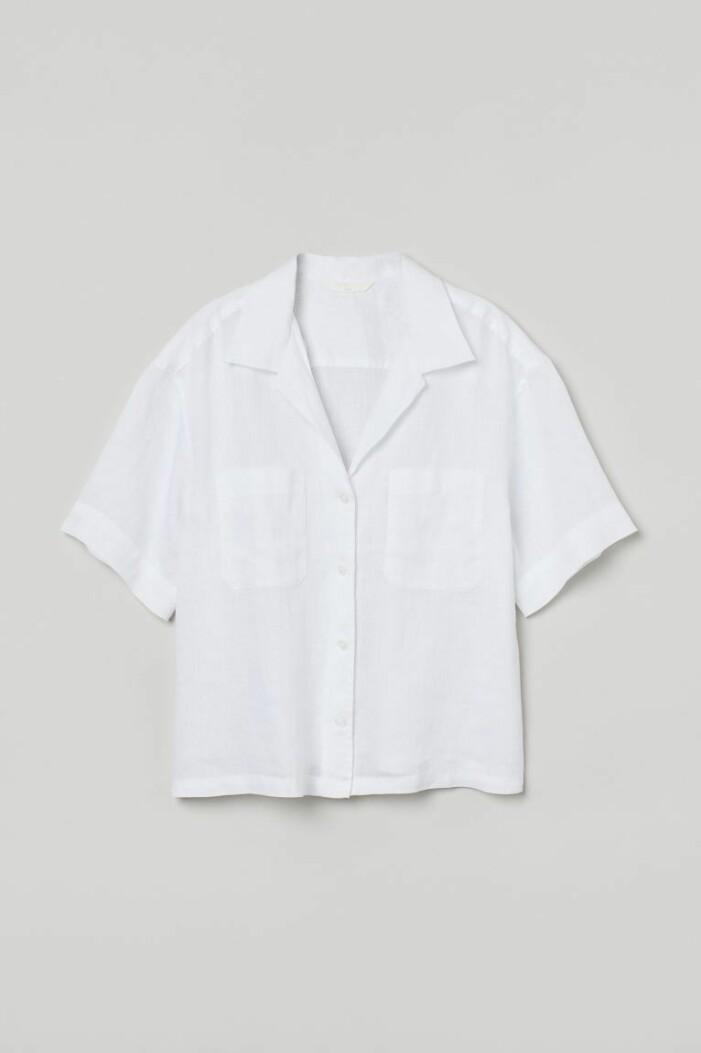 vit kortärmad resortskjota från H&M