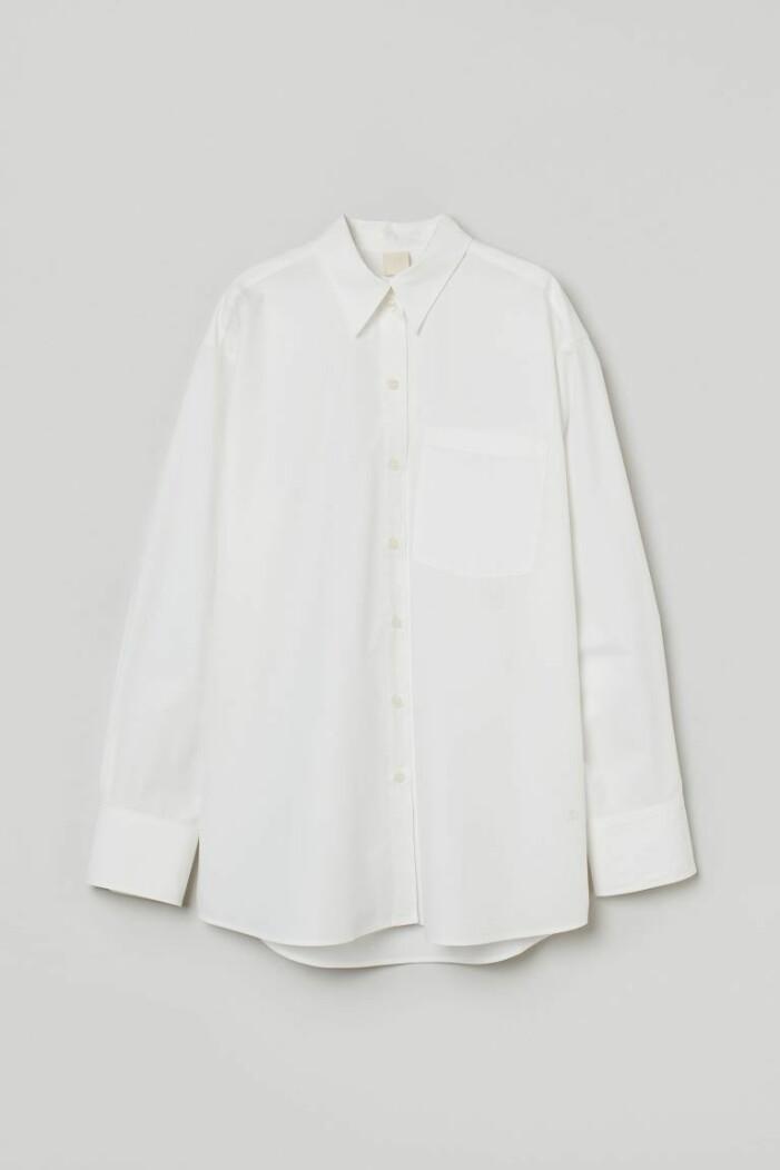 vit bomullsskjorta från H&M