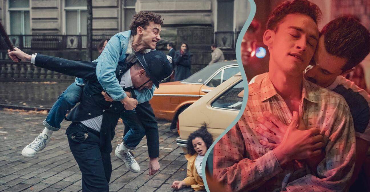 Homosexuella män i London på 80-talet i HBO-serien It's a Sin.