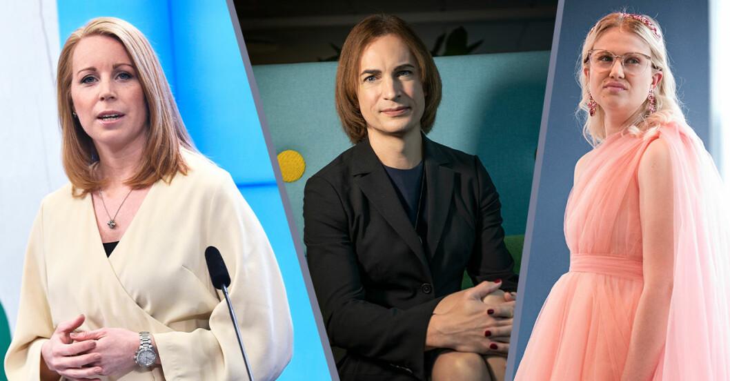 Emma Örtlund, Caroline Farberger och Annie Lööf är med i filmen och projektet #honförtjänarhimlen