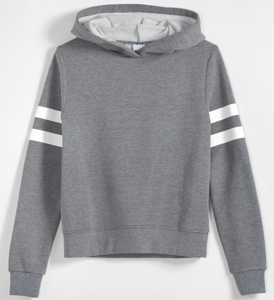 hoodie tröja grå
