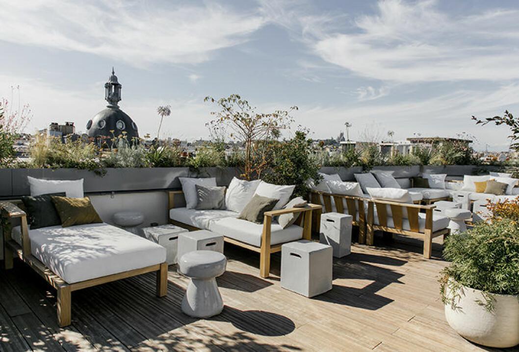 Hotel National des art set métiers i Paris har en fin utsikt från takterrassen