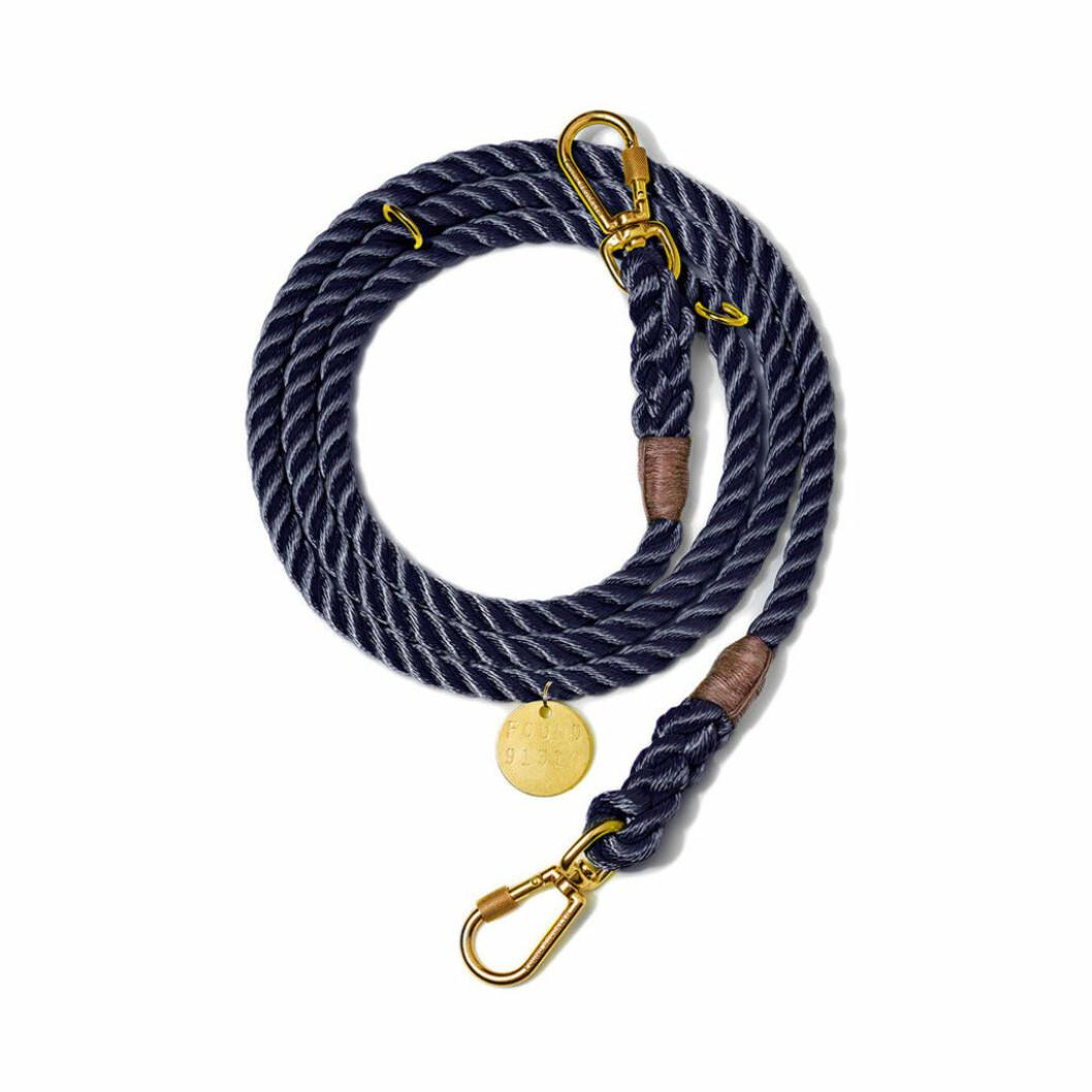 Marinblått hundkoppel